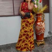 все цены на Bodycon African Dashiki Maxi Dress Women Robe Elegant Sexy Party Dress Summer Sleeveless Floral Vintage Dress