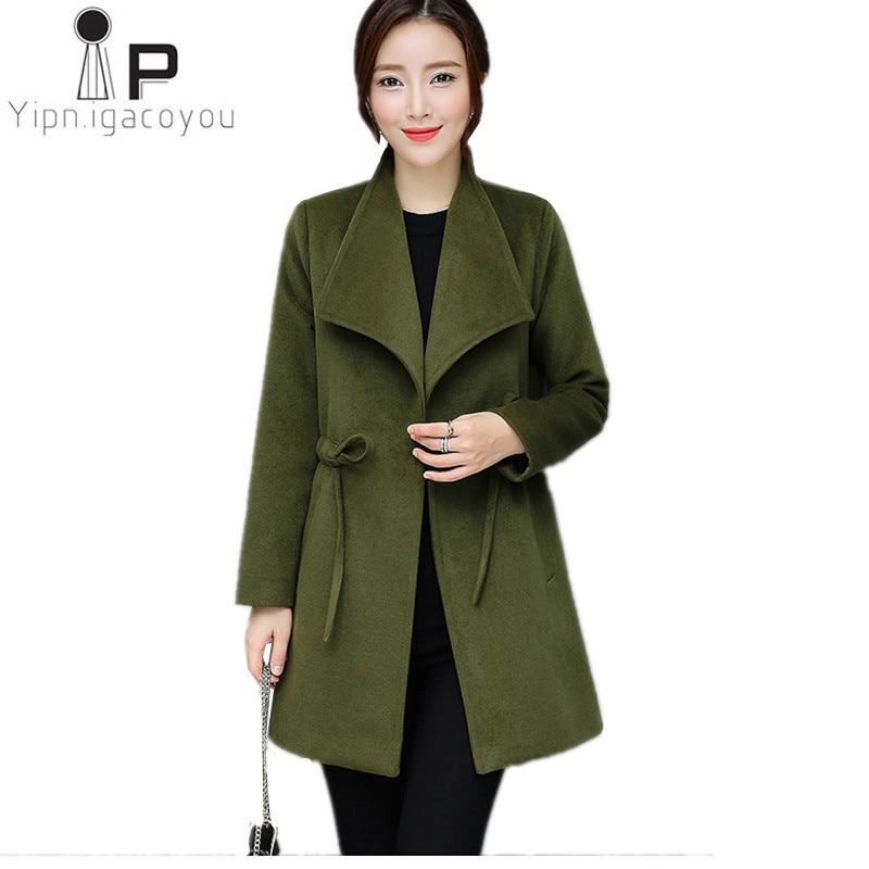 Brands Fashion Women windbreaker 2018 Autumn New plus size women   trench   coat long loose female coat Elegant women's spring coats