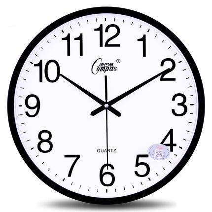 14 pouces muet horloge murale salon simple mode chambre horloge murale table moderne creative quartz horloge