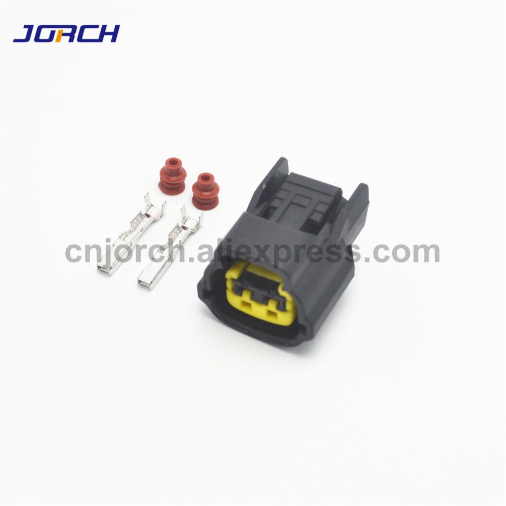 10sets 2pin Hyundai Elantra Speaker Plug Modern Kia Nissan Horn Ballast Connector 6098-0137