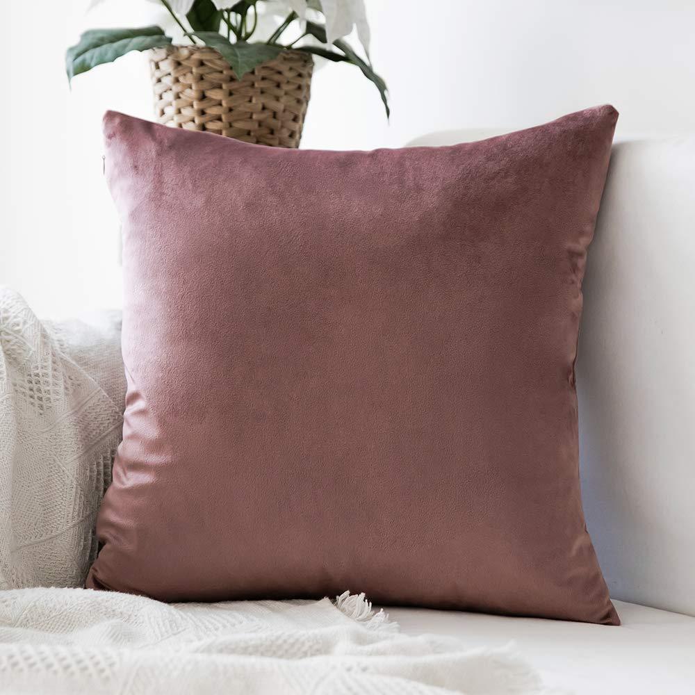 1 PC Decorative Comfortable Velvet Throw Pillow Cover Soft Pillow Cover Soild Square Cushion Case For Sofa Bedroom Car