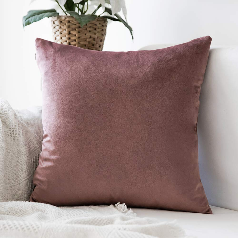 1 PC Decorative Comfortable Velvet Throw <font><b>Pillow</b></font> Cover Soft <font><b>Pillow</b></font> Cover Soild Square Cushion <font><b>Case</b></font> for Sofa Bedroom Car image