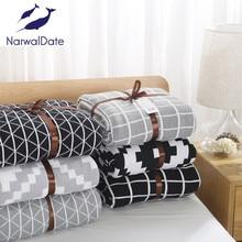 цены Simple Plaids Blanket Sofa Decorative Slipcover Throws on Sofa/Bed/Plane Travel Rectangular Stitching Blankets