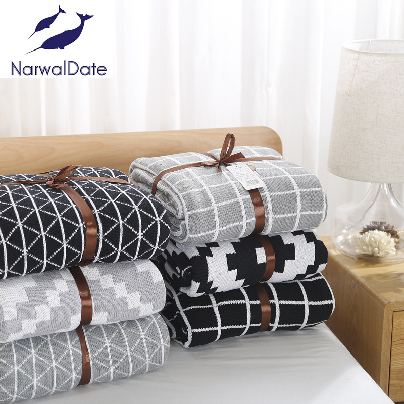 Discount Simple Plaids Blanket Sofa Decorative Slipcover Throws On Sofa Bed Plane Travel