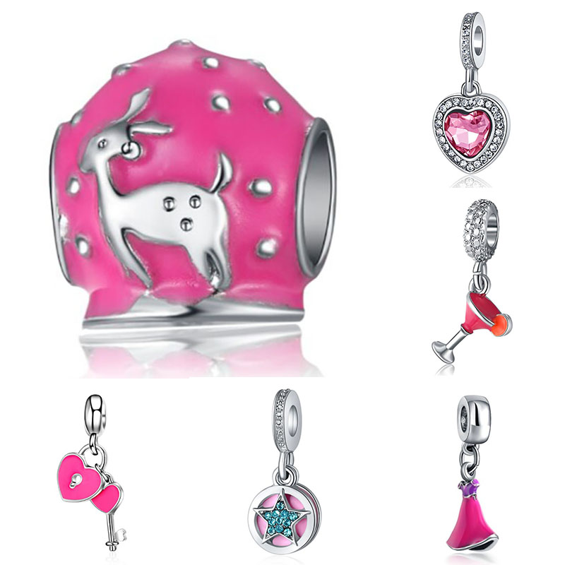 Fit Pandora Charms Plata Metal Silver 925 Original Bracelet Jewelry Making Valentine 39 s Day Mary Bijoux Slide Beads in Beads from Jewelry amp Accessories