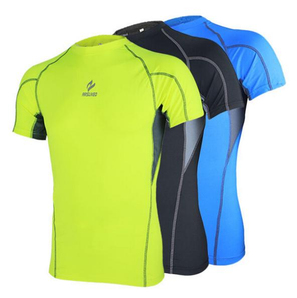 f4a4d56ad0ce Men compression tights base layer running Fitness bodybuilding men sports  short sleeves wear clothing shirt jersey