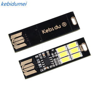 kebidumei 1 pcs Portable Mini USB 6 LED Lamp Bulb for Power Bank