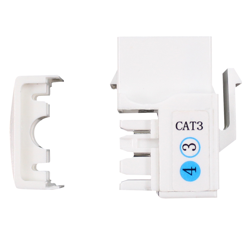 10pcs Black Cat3 Phone Line Coupler Insert Module Keystone Latch RJ-11
