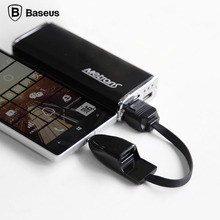 Original Baseus Portable USB OTG Cable Adapter for Samsung Galaxy Note 5 S4 S5 S6 Edge