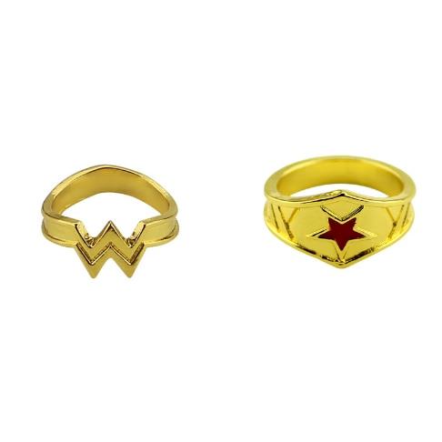 2 стиля чудо-женщина кольцо с красной звездой, супер герой Wonder Woman девушка Мощность кольцо фильм Косплэй Действие игрушки 072