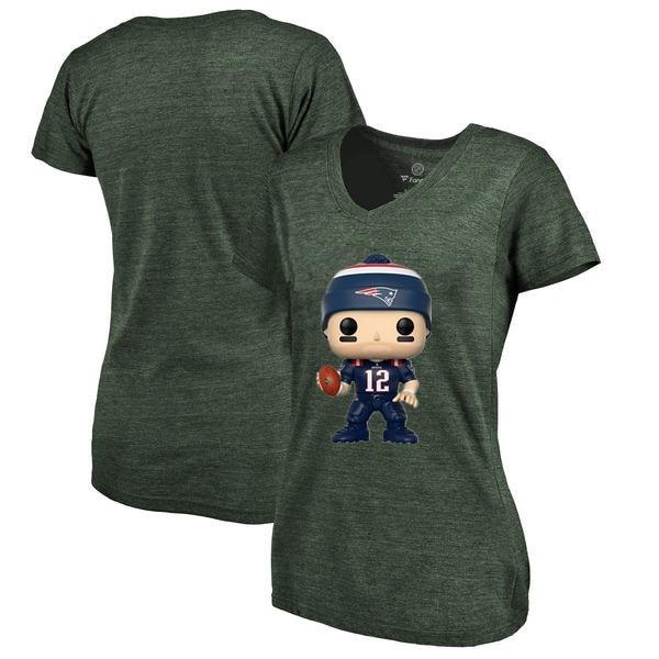 Neue Stil Frauen Sommer T Shirt Patriots Fans England 12 Tom Brady