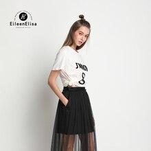 Runway T Shirt 2017 100 Cotton T Shirts Women Fashion T Shirt with Letter