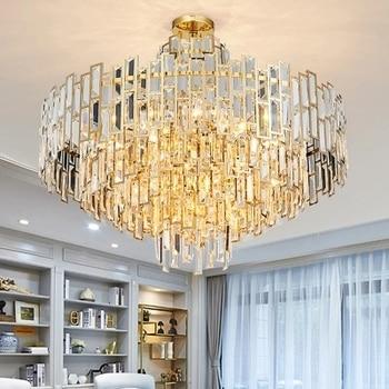 Modern Art Deco LED Chandelier Lustres Luxury Lobby Chandelier Dining Room  Living Room lamps Gold Restaurant and Bar lamp