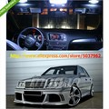 Free Shipping 6pcs White Canbus NO Error LED Interior Light KIT FOR Mercedes Benz W202 C Class