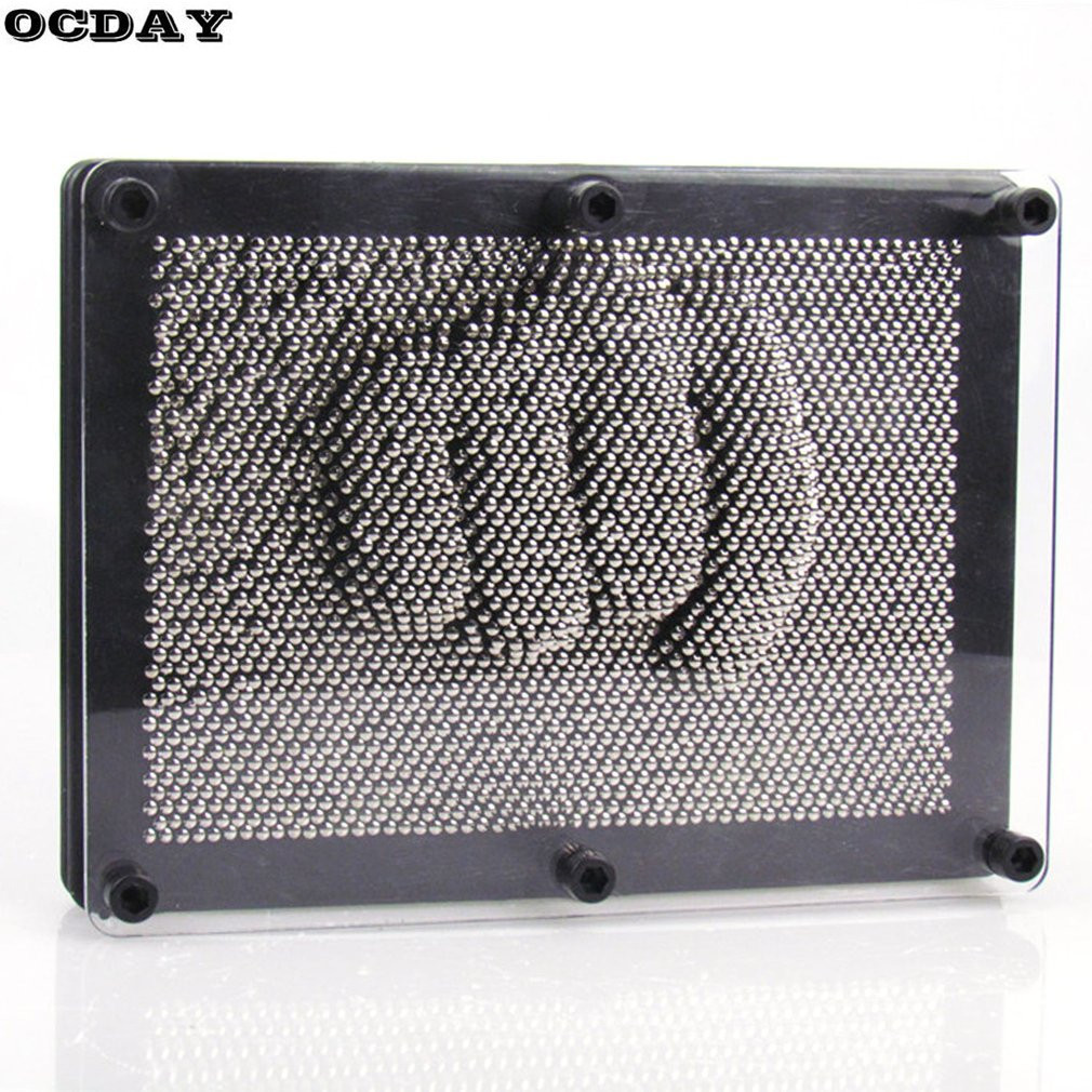 OCDAY <font><b>3D</b></font> Clone Metal Pin Art Hand Shape Model Board Sculptures Children Toys Pinscreen Needle Painting Art Carving <font><b>Pinart</b></font> Gift image