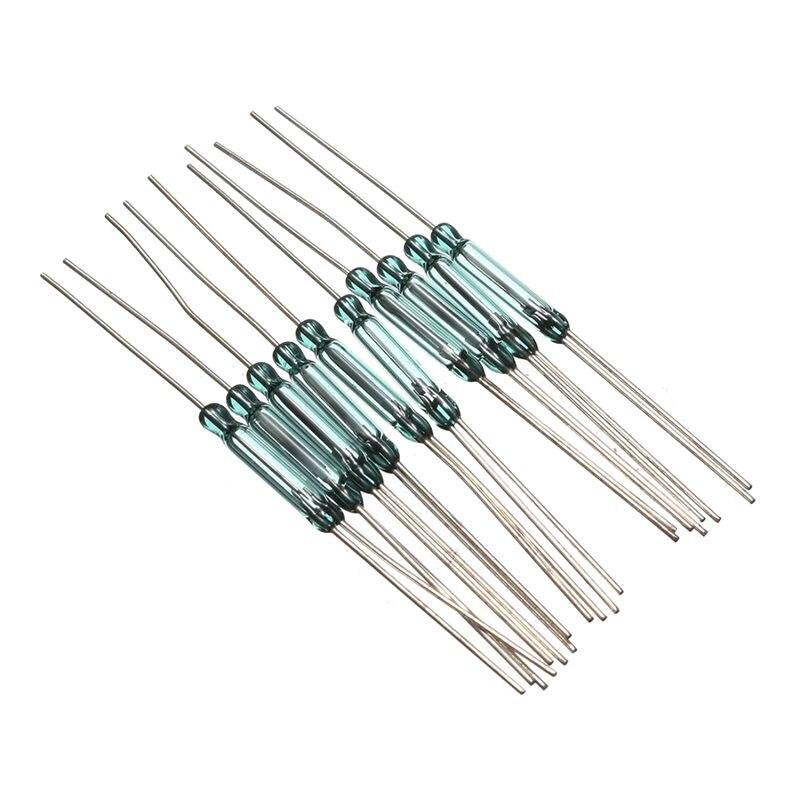 10 шт. N/O N/C SPDT Рид магнитный переключатель Переключатели Замена 2.5x14 мм RI-90