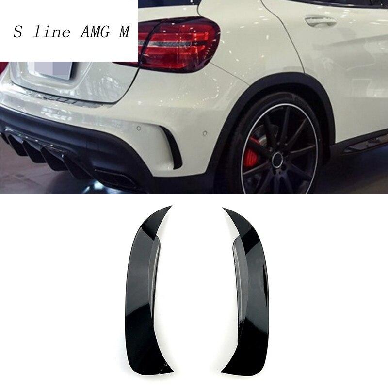 Araba styling gövde arka yan ayna vücut çıkartmalar kapak dekoratif Mercedes Benz GLA X156 sınıf 260 GLA45 AMG aksesuarları