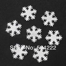 1000 шт Большой 31 мм фетровая Снежинка в форме белого цвета