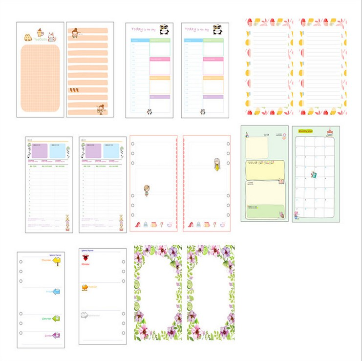 graphic regarding Cute Planner Refills titled US $0.74 6% OFFSbooking Planner Organizer Refills Papers for 6 Rings Binder Laptop A5 A6, Lovable filofax papers change.-within just Notebooks towards Office environment