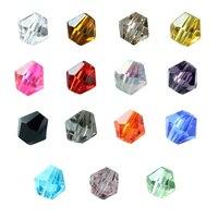 Nowy 15 kolory/box 4mm Bicone Austria Kryształowe Koraliki Fasetkowy Szkła Kryształowego Dystansowe Koniec Koraliki Fit Naszyjnik Bransoletka DIY F3436 Tworzenia biżuterii