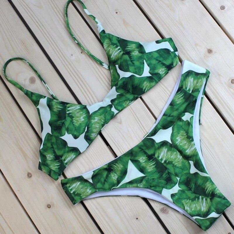 2017 New Bikinis Sexy Women Swimsuit Bandeau Biquinis Padded maillot de bain Femme Monokini Push Up Bikini Set Summer Beachwear  4