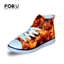 FORUDESIGNS Children's Shoes for Kids Girls&Boys Walking Running Cycling Lace-up Canvas Shoes Kid Girl Sport Shoes 2018 Arrival