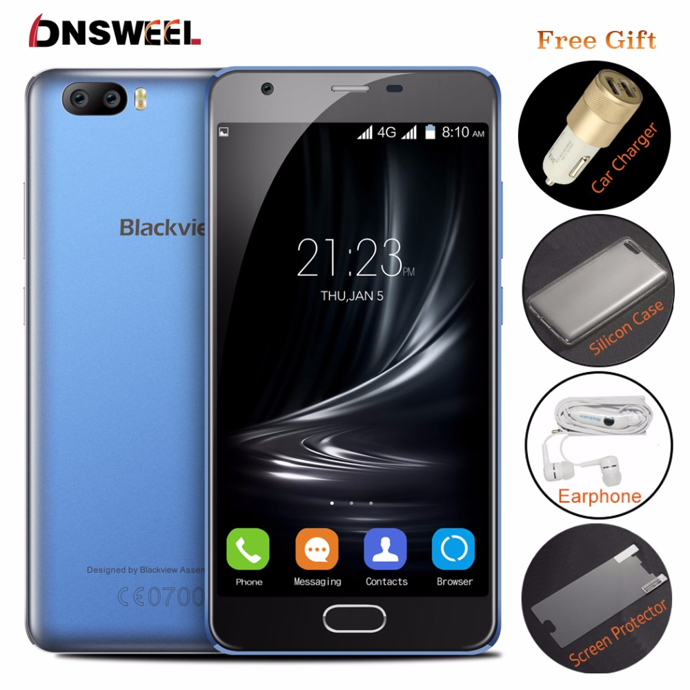 Blackview A9 Pro Android 7 0 4G font b Smartphone b font MT6737 Quad Core Mobile