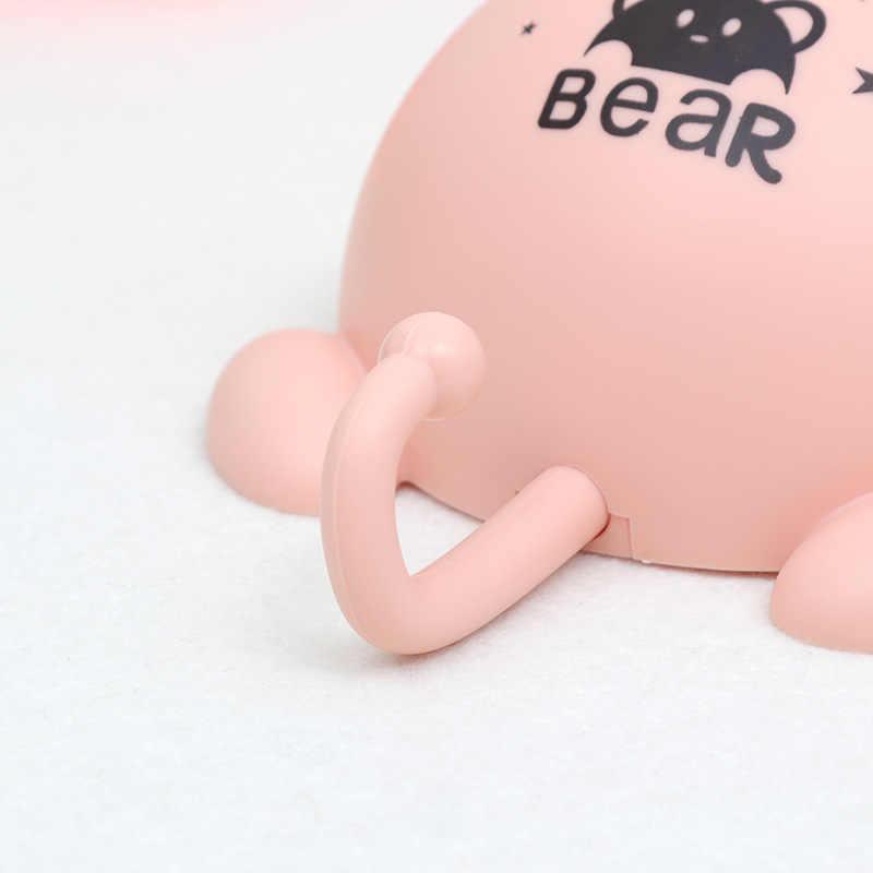 חמוד קריקטורה דוב קיר יניקה תלויה סבון בעל תיבת עם סבון וו אחסון מתלה סבון שומר אמבטיה צלחת אביזרים