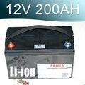 12 6 V 200AH литий-ионный аккумулятор 12V литий-ионный водонепроницаемый IP68 коробка для UPS солнечной энергии гольф автомобиля
