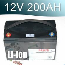 цены 12.6V 200AH Lithium ion Battery 12V Li-ion Waterproof IP68 Box for UPS  Solar energy Golf Car