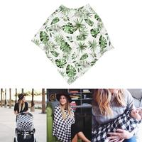 Multi-function NEW Baby Mom Breastfeeding Towel Cover Nursing Print Apron Cover Baby Poncho Shawl Baby Stroller Sunshade Cover