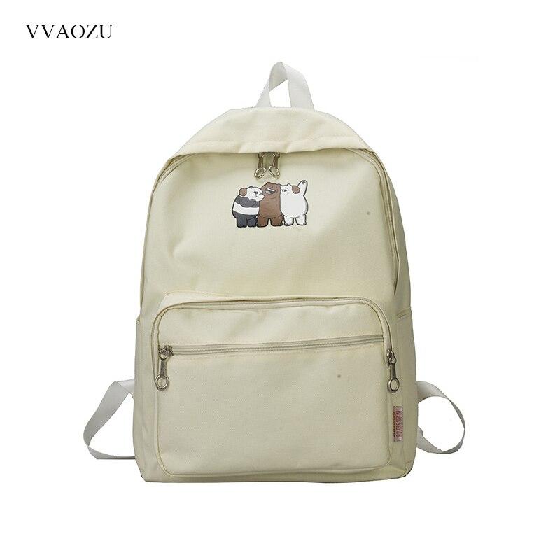 Anime We Bare Bears Backpack Funny Bear School Bag Shoulder Travel Bag Knapsack Schoolba ...