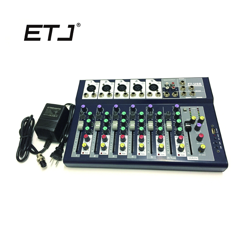 New F7-USB For bete 58 sm 58 Channel Mixing Console Equipment 3-band EQ Professional Audio DJ Mixer
