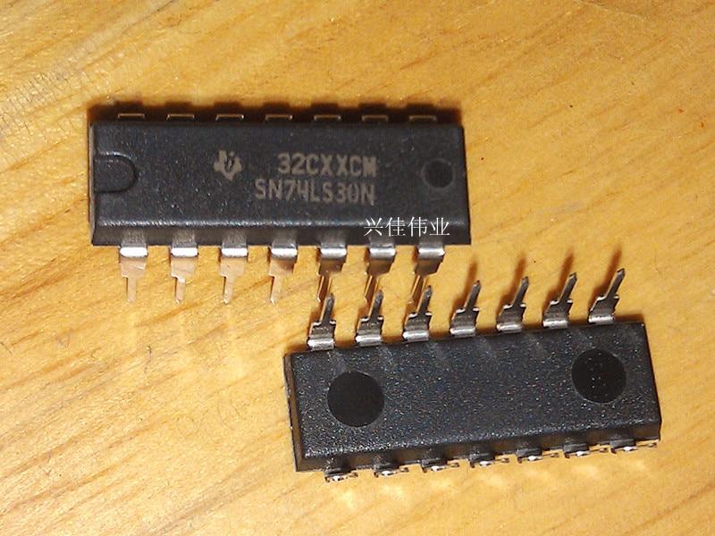 20PCS 74LS30 SN74LS30N HD74LS30P DIP-14 8 positive input NAND gate logic chip