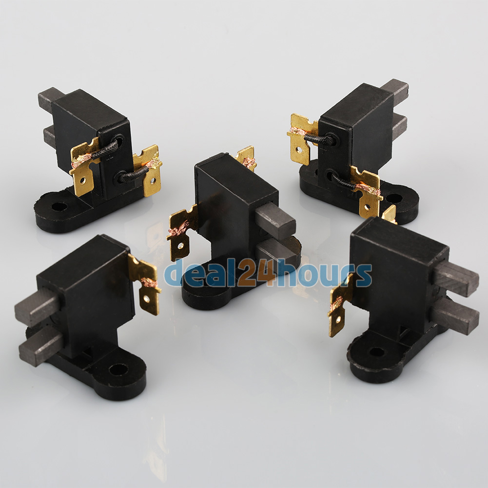 5pcs carbon brush assembly for 2kw honda chinese gasoline generator 5 5 6 5hp free shipping  in