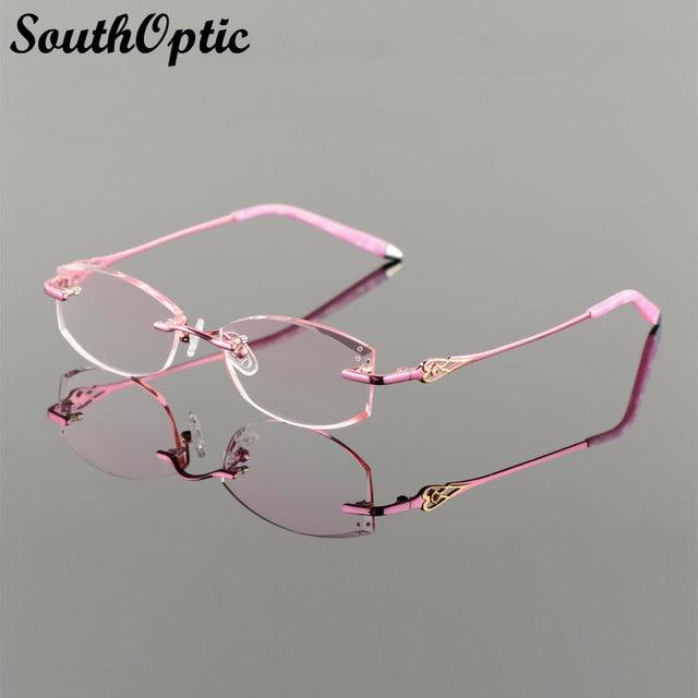 2016 новый полуободковые корейских женщин оптическая рамка в том числе 1.61 Asphereic тонированные HMC UV400 EMI объектив титана полуободковые 9018 очков