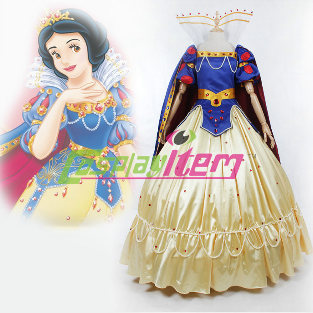 Custom Made Deluxe Snow White Princess Dress Cosplay Costume Adult Women - Cosplayitem COS store