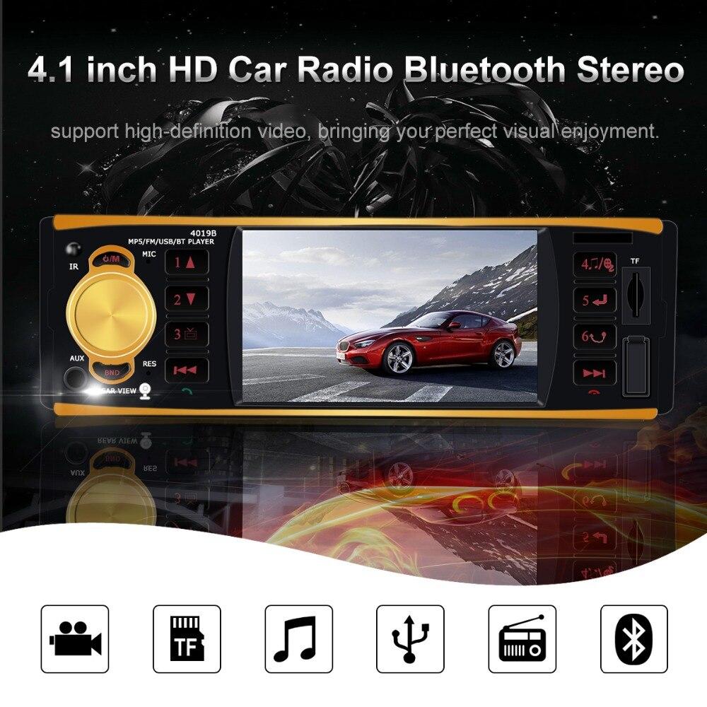 4019B 1 autoradio autoradio Audio auto stéréo 12 v USB AUX FM Bluetooth avec caméra de recul autoradio télécommandé