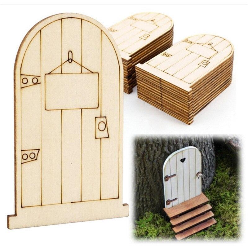 unidslote fairy puerta de madera de corte por lser de navidad adornos de decoracin para el hogar jardn de la puerta hacia