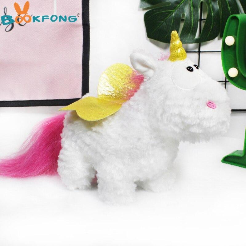 25 cm caballo encantador del Unicornio Peluche lindo Unicornio muñeca suave Peluche Anime Peluche juguetes niños regalo de cumpleaños