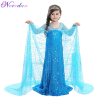 Wedding Princess Elsa Costume Cosplay Dress For Girls Cute Halloween Party Dresses Children's Christmas Birthday Set Clothes