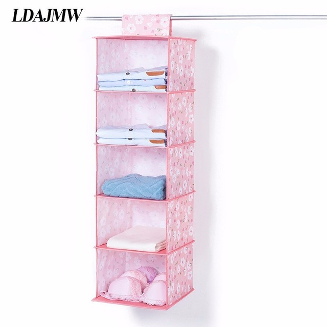 Multilayer Wardrobe Hanging Storage Organizer Clothes Underwear Storage Bag  Folding Drawer Magic Tape Closet Container Box