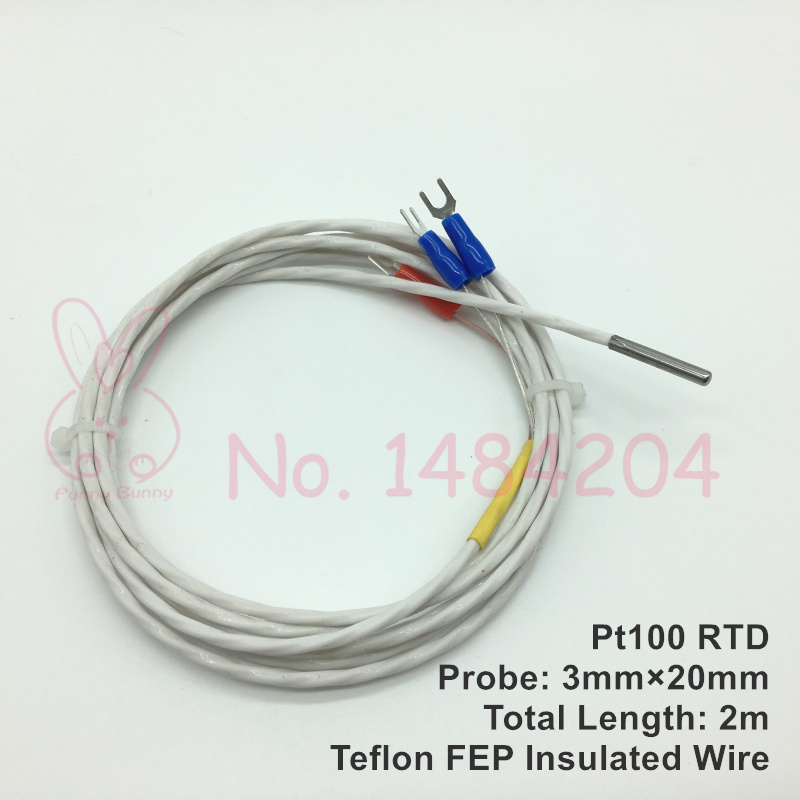 Rtd Pt100 2 Wire Wiring Diagram: Aliexpress.com : Buy 2x PT100 Temperature Sensor 3mm*20mm