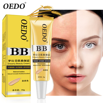 Natural Concealer BB  Face Cream Care Modified Emollient Easy to Wear Sun Block Whitening Cream