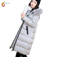 JQNZHNL 2017 New Winter Women Coats And Jackets Detachable Fur Hooded Women Parka Overcoat Casual Thicken