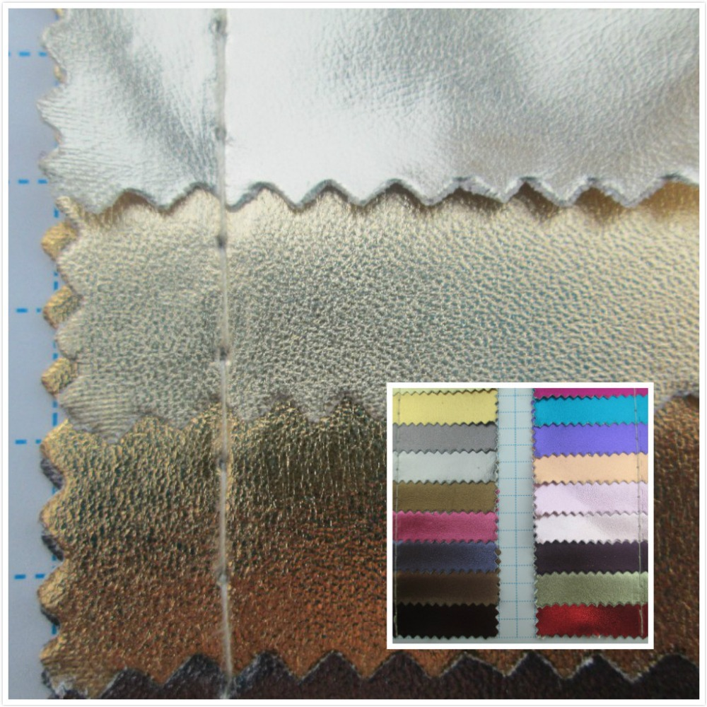 Metallic Luster Style Leather Fabric Pvc Synthetic Leather