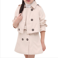 Children spring Clothing Baby Girls Set Kids Clothes Girl autumn Windbreaker Suits Toddler 2PCS(Jacket+Dress)Outerwear Outfit