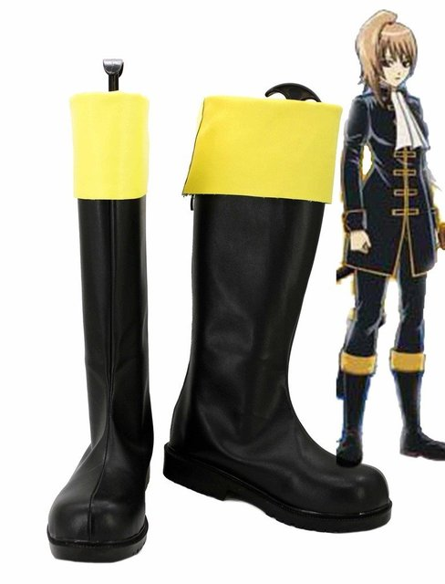 Gintama Okita Sougo Female Cosplay Shoes Boots Custom Made