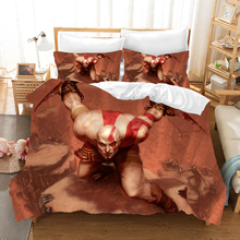 God of War 3d Bedding Set Duvet Covers Pillowcase Kratos Children Room Comforter Sets Bedclothes Bed Linen