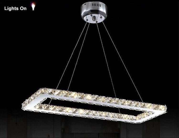 Acheter rectangle design moderne led for Modele de lustre pour cuisine